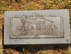 Adah Berniece <I>Daniels</I> Ashlock