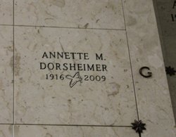 Annette M Dorsheimer