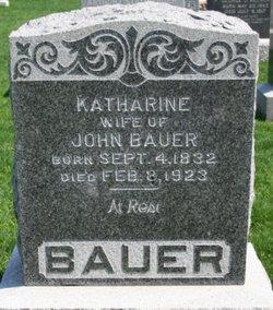 Katharine <I>Haefner</I> Bauer
