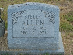 "Rocena Estella ""Stella"" <I>Massey</I> Allen"