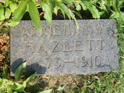 """Carol Maud """"Carrie"""" <I>Hannah</I> Hazlett"""