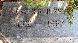 Esther <I>Schroth</I> Rixey