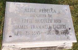 """Alice Rebecca """"Becky"""" Zachry"""