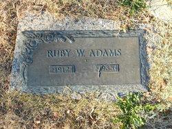 Ruby W Adams