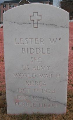 Lester W Biddle