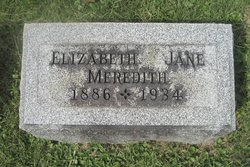 Elizabeth Jane <I>Williams</I> Meredith