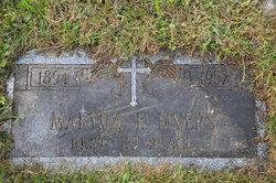 "Martha Florence ""Mattie"" <I>Blyler</I> Myers"