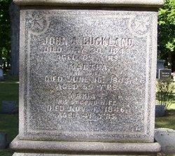 Martha <I>Douglass</I> Buckland
