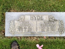 Wilhelmina Amelia <I>Peterson</I> Hyde