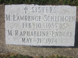 "Sr Mary Lawrence ""Clara Ann"" Schlimgen"