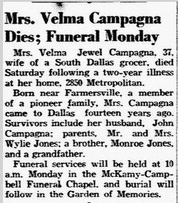 Velma Jewell Campagna
