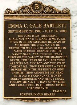 Emma Josephine <I>Carter</I> Bartlett