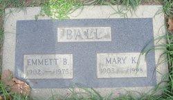 Mary Burl <I>Kuhns</I> Ball