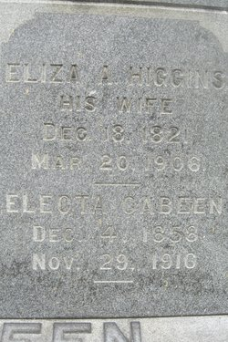 Eliza A. <I>Higgins</I> Cabeen