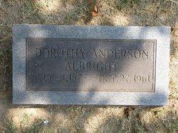 Dorothy <I>Anderson</I> Albright