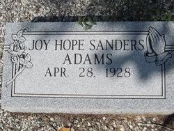 Joy Hope <I>Sanders</I> Adams