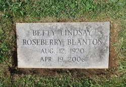 Betty Lindsay <I>Roseberry</I> Blanton