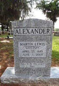 """Martin Lewis """"Cotton"""" Alexander"""