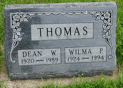 Wilma Pearl <I>Thompson</I> Thomas