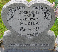 Josephine Marie <I>Anderson</I> Merida