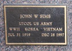 John W Sims