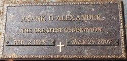 Frank D Alexander