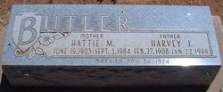 Hattie Mae <I>Miller</I> Butler