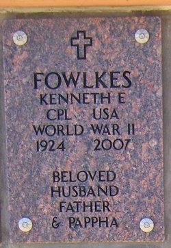 Corp Kenneth Edmun Fowlkes