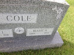 "Marie Angela ""Maria"" <I>White</I> Cole"