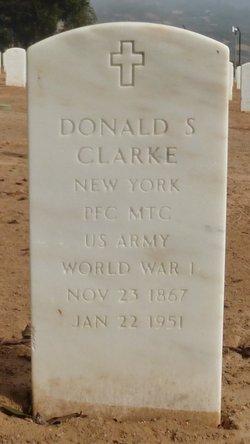 PFC Donald S Clarke