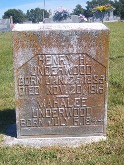Mahalee E <I>Dortch</I> Underwood