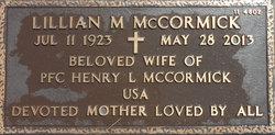 Lillian M McCormick