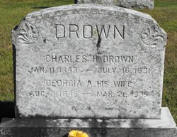 Georgia Anna <I>Clark</I> Drown