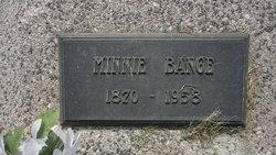 Minnie <I>Widmer</I> Bange