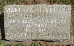 Wanetta M. <I>Leiter</I> Bryant