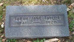 Sarah Jane <I>Elder</I> Taylor