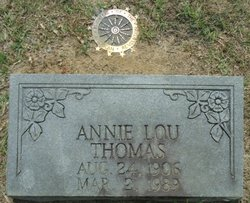 Annie Lou <I>Thrasher</I> Thomas
