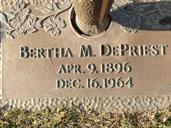 "Bertha Mae ""Berthie"" <I>Brawley</I> DePriest"