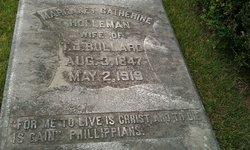 Margaret Catherine <I>Holleman</I> Bullard