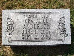 Ora Alice <I>Woolf</I> Anderson