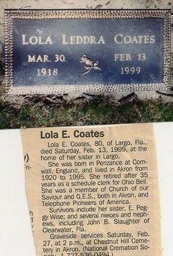 Elsie Lola <I>Leddra</I> Coates
