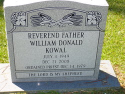 Rev Fr William Donald Kowal