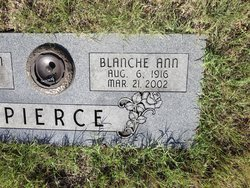 Blanche Ann <I>Ward</I> Pierce
