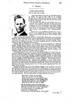 Rev James Oscar Banks