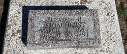 Elizabeth D Broadhurst