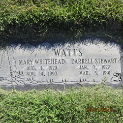 Mary Emma <I>Whitehead</I> Watts