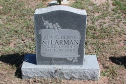 Ada Ethel <I>Garrett</I> Stearman