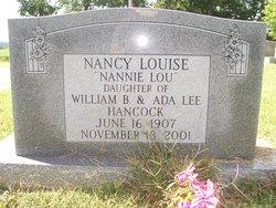 """Nancy Louise """"Nannie Lou"""" Hancock"""
