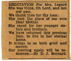Lenora Madeline <I>Bernard</I> LeGard