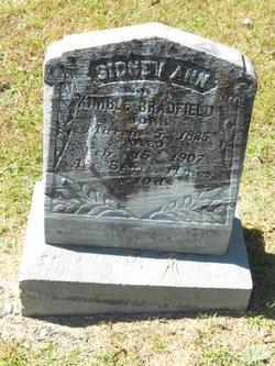 Sidney Ann <I>Whetzel</I> Bradfield